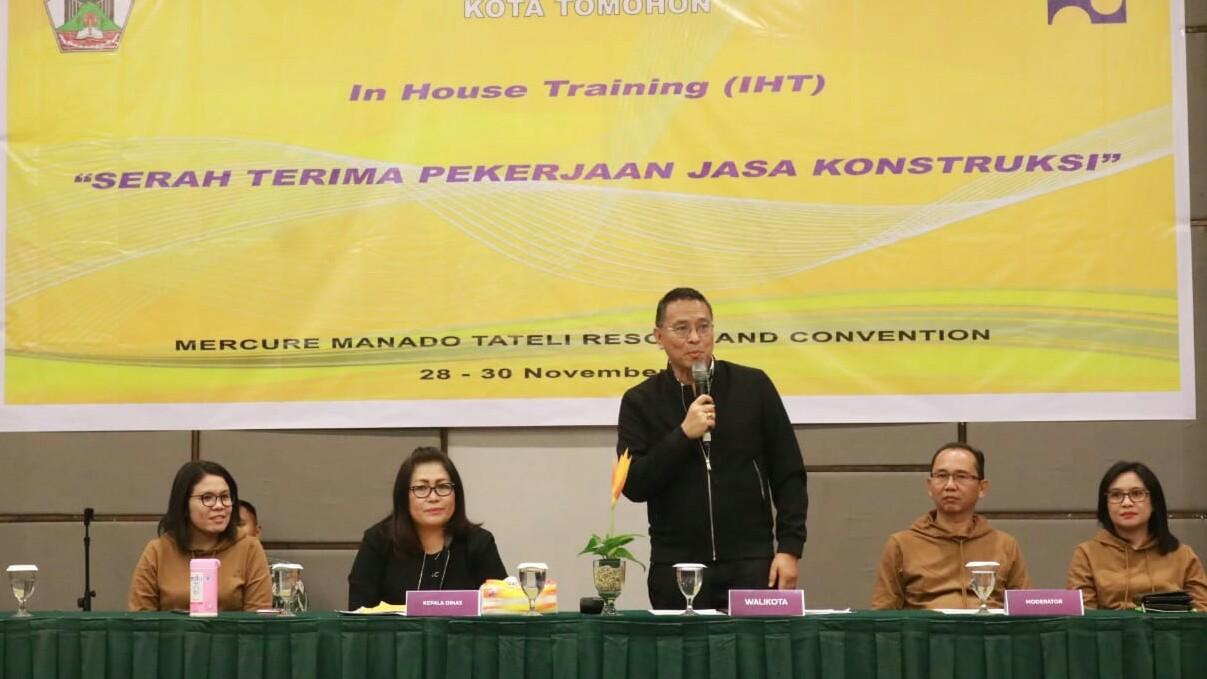 DPUPRD Gelar IHT, Walikota Tomohon Ingatkan PB/J Dilakukan Sesuai UU