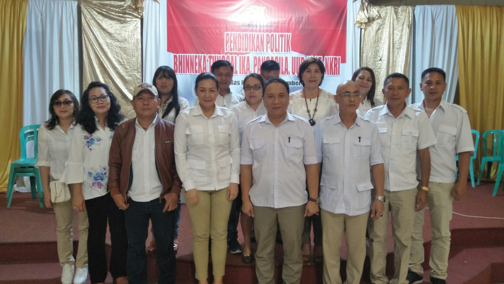 Perkuat Komitmen 4 Pilar Kebangsaan, Gerindra Tomohon Gelar Pendidikan Politik