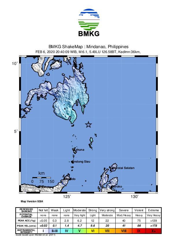 Gempa Bumi Tektonik M 6,1 di Talaud, Tidak Berpotensi Tsunami