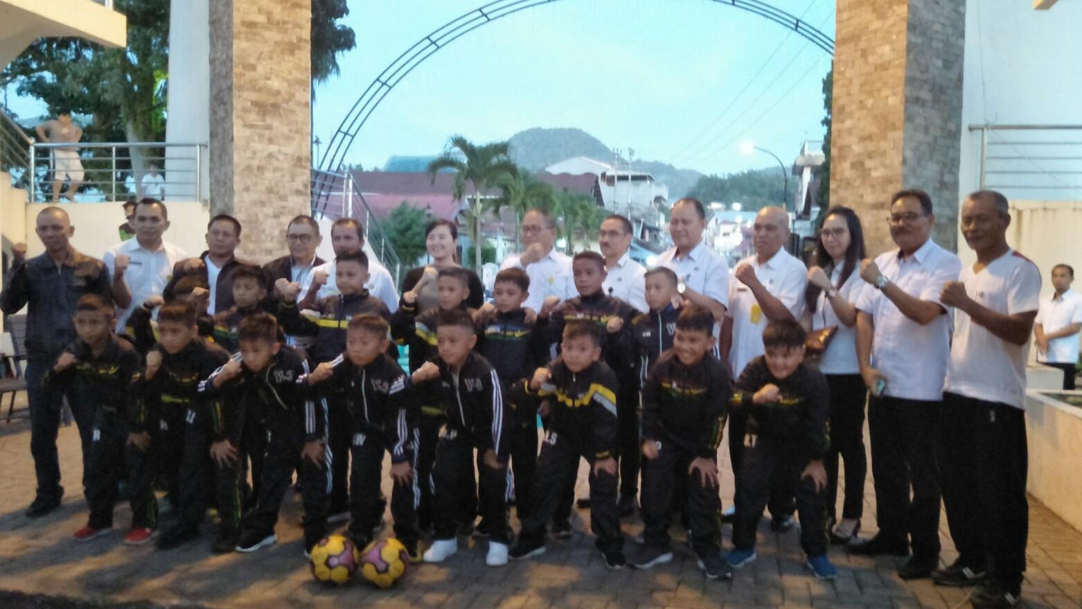 Lolowang Lepas Tim GAES 2020 SSB Bina Putra, Wagiu Apresiasi Dukungan Pemkot Tomohon