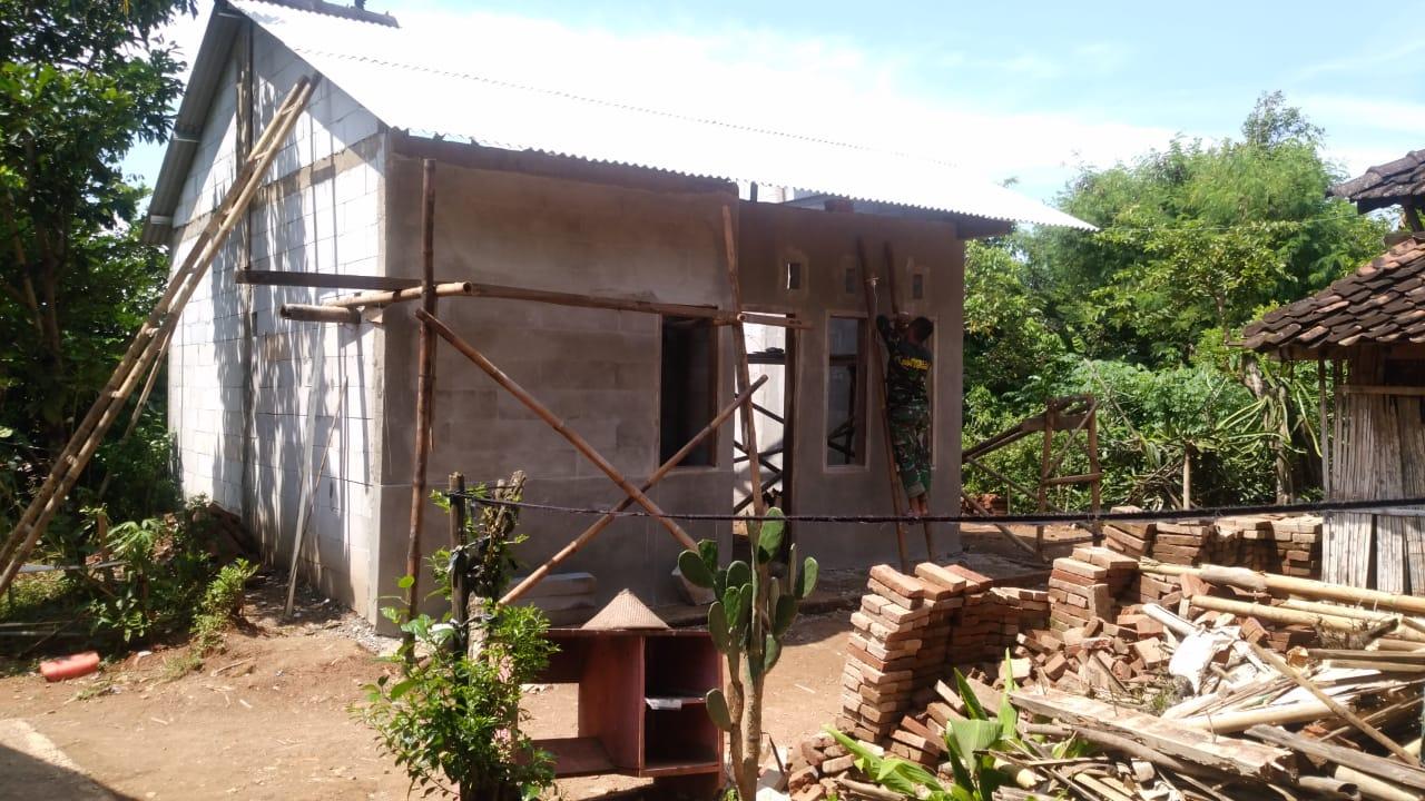 Bedah Rumah TMMD Reg. 107 Tahap Pemasangan Atap