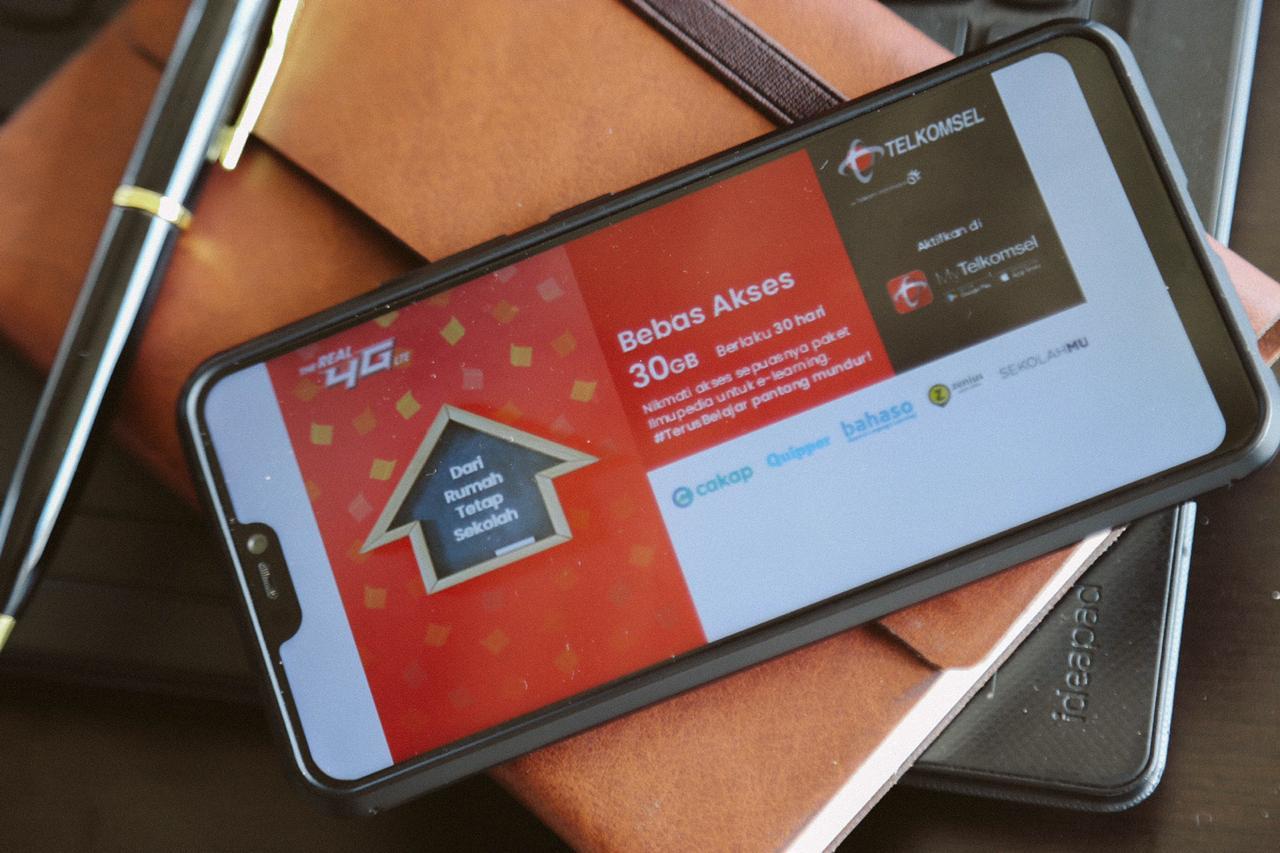 Nikmati Akses Data Belajar Online Gratis di Telkomsel