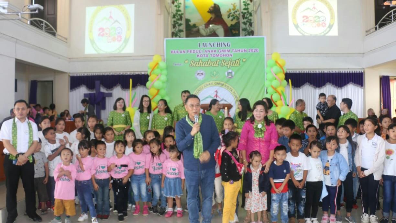 Walikota Hadiri Launching Bulan Peduli Anak GMIM