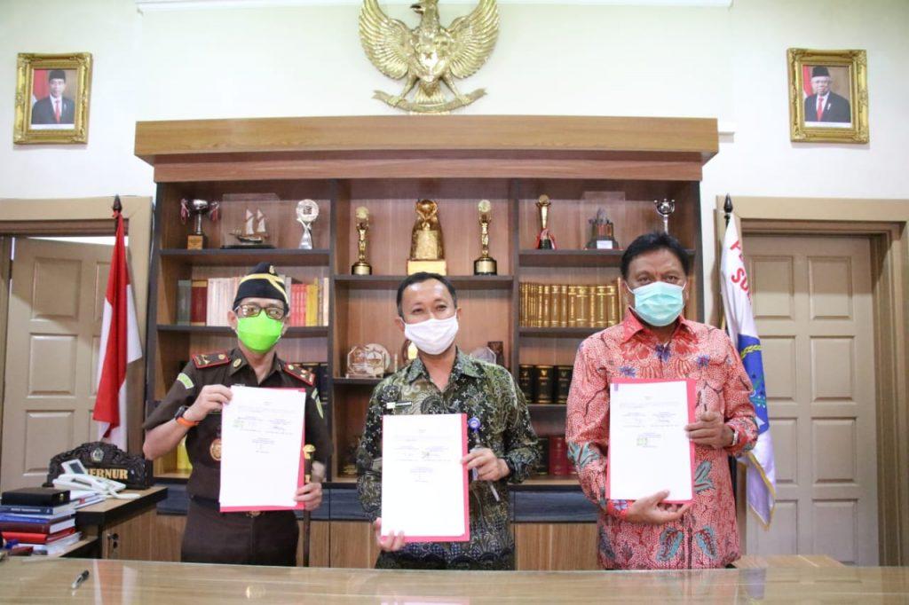 Transparansi  Dana Covid-19, Gubernur OD Teken MoU dengan Kajati dan BPKP