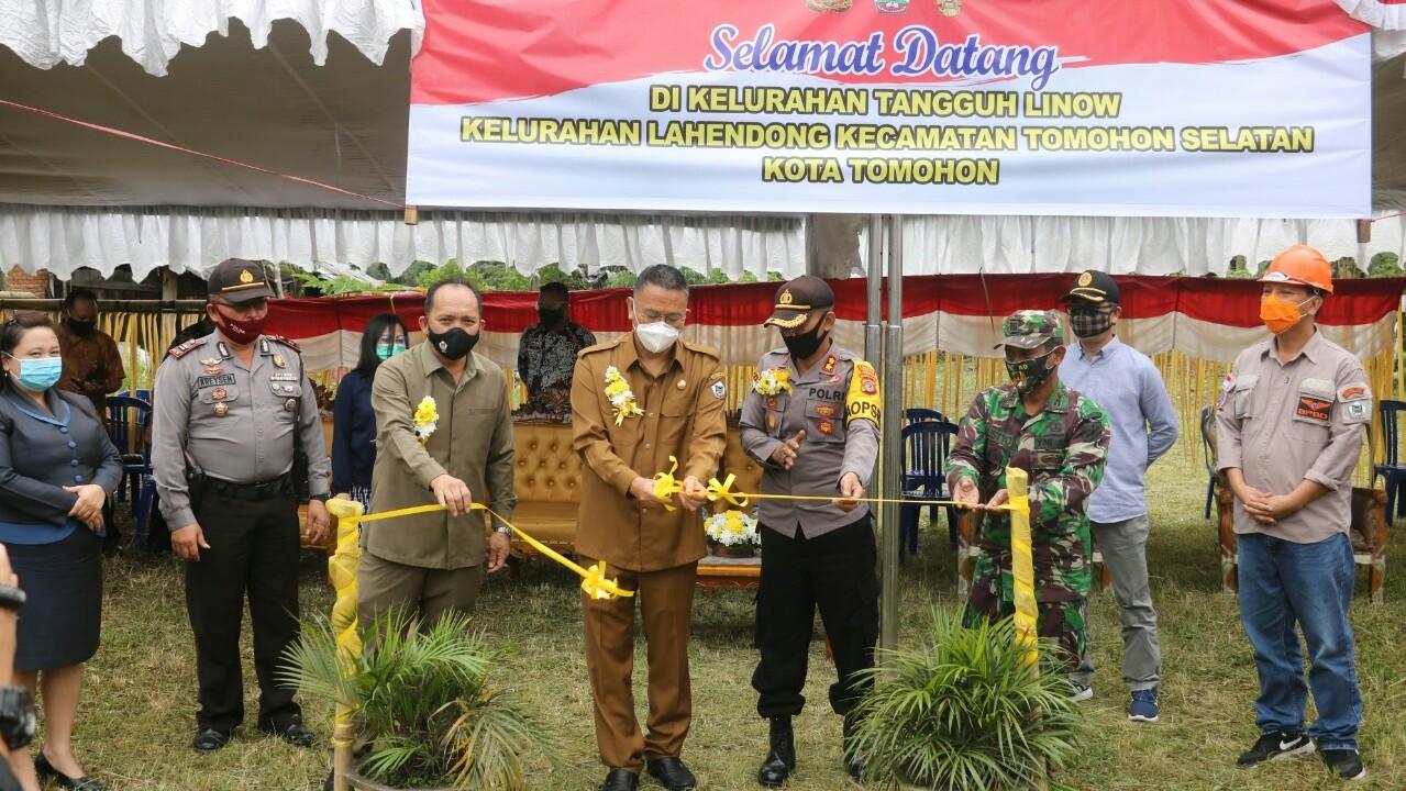 Walikota Tomohon Launching Kampung Tangguh Linow Gagasan Polres Tomohon