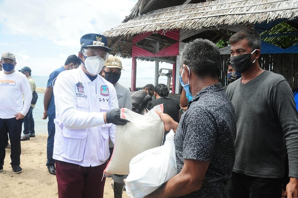 Walikota : Bunaken Kepulauan Kecamatan Pertama di Salurkan Bantuan Tahap Dua
