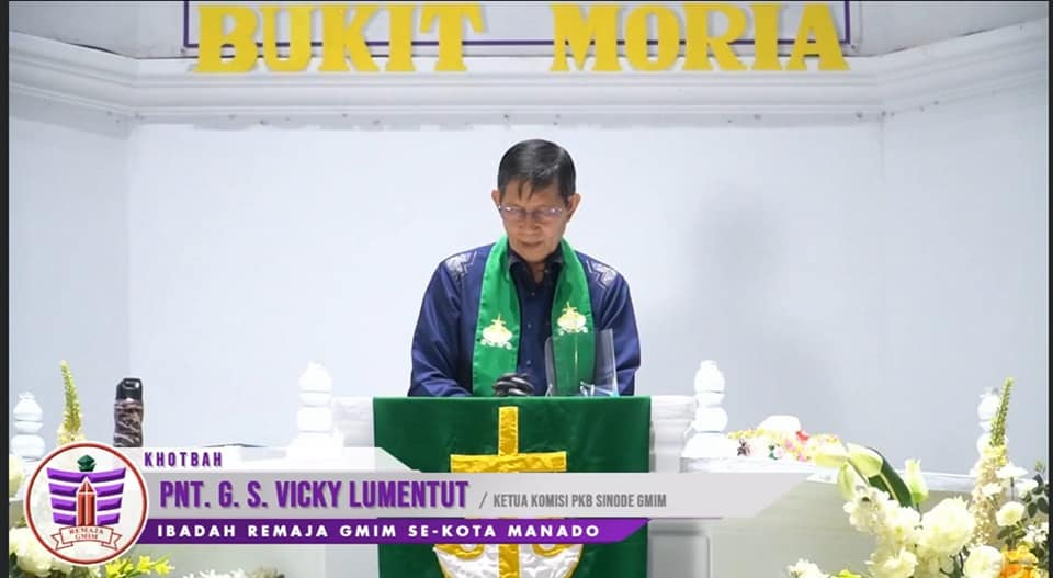 Walikota Manado Khadim Ibadah Remaja GMIM se-kota Manado Melalui Ibadah Live Streaming