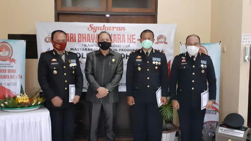 Ketua DPRD Ikut Peringatan HUT Bhayangkara di Polres Tomohon