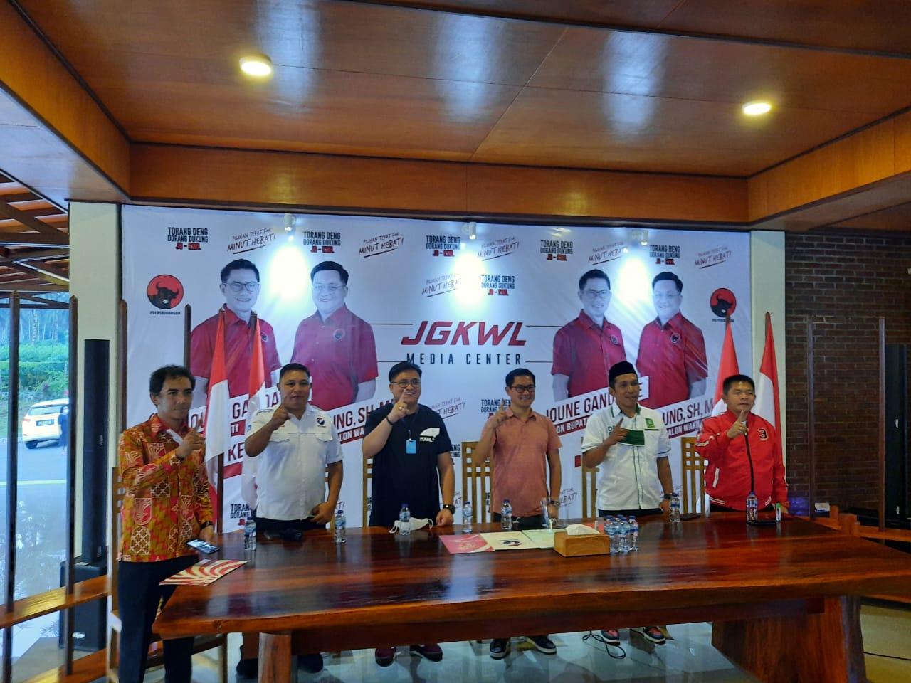 Tiga Parpol Nyatakan Sikap Menangkan JG-KWL