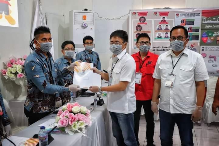 Pertama, AA- RS Mendaftar ke KPU Manado