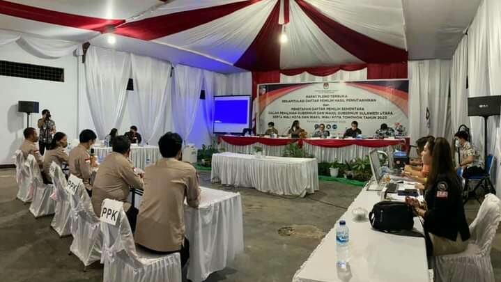KPU Tomohon Plenokan Rekap DPHP dan Penetapan DPS