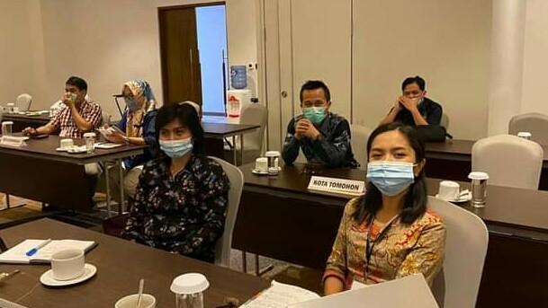 KPU Tomohon Ikuti Bimtek Pengadaan Logistik Pilkada Serentak 2020