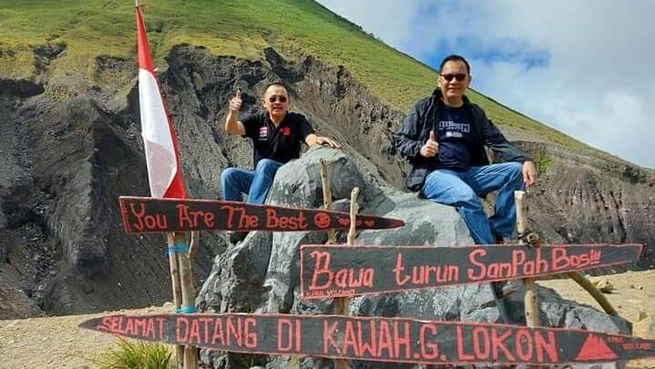 Sambil Olahraga, CSWL Jajaki Pengembangan Destinasi Wisata Kawah Tompaluan Gunung Lokon