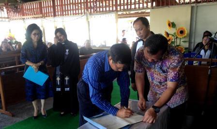 Moment Paskah, GSVL Sumbang Lahan untuk GMIM Bukit Kasih Matuari
