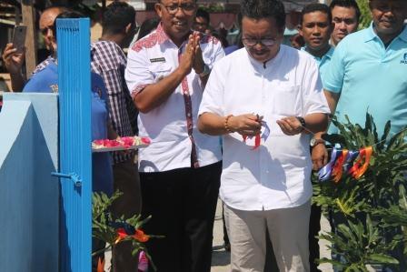 Mantiri Resmikan Dermaga dan Rumah Pondok Informasi