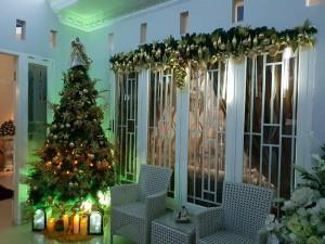 Dekorasi Natal Ala Kel. Pangalila Sumajow (Foto: akun FB Olke Sumajow).