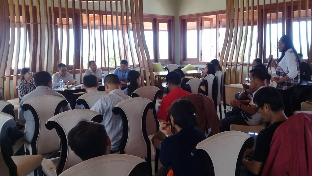 Suasana jumpa pers di RestoranCasa Bakudapa Manado, Kamis (27/12/2018).