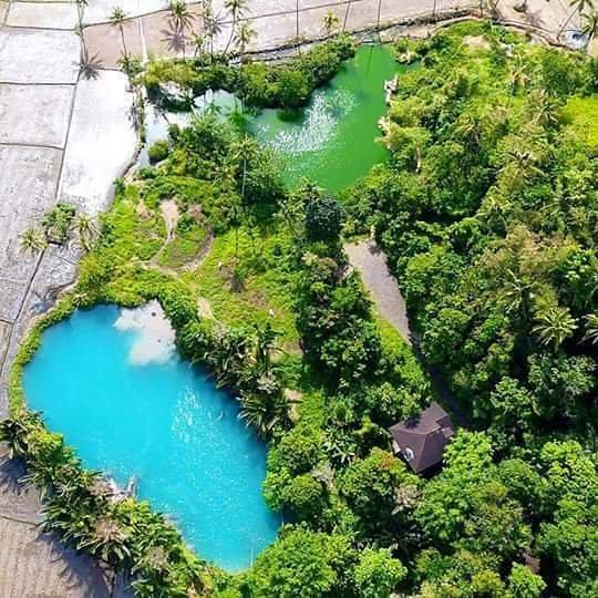 Pasar Hutan Ranelewo di Langowan Sajikan Danau Air Panas Warna Biru dan Hijau