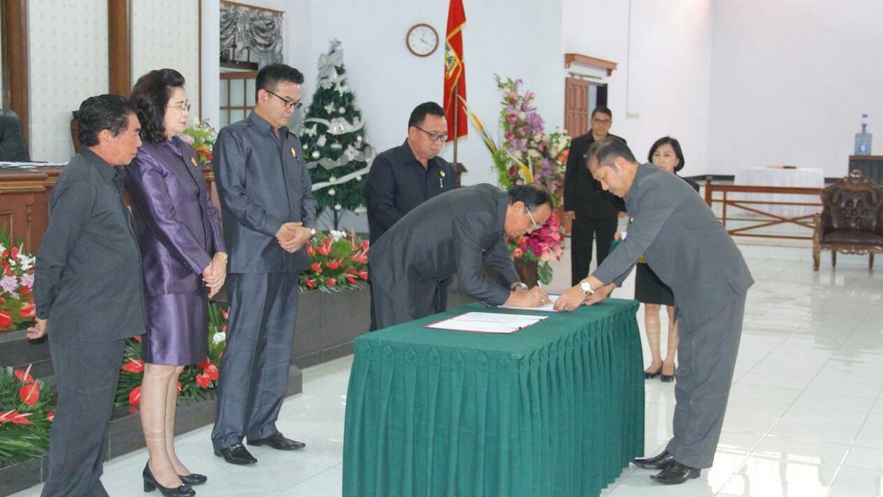 ROR-RD Bangga, RPJMD 2018-2023 Disepakati DPRD Minahasa