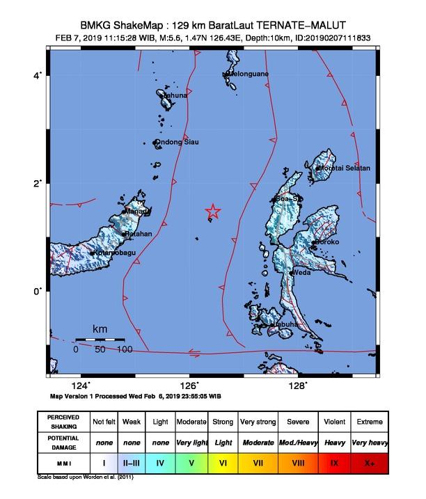 Gempa Halmahera Barat 5,7 SR  Terasa Getarannya di Sulut, Ini Penjelasan BMKG