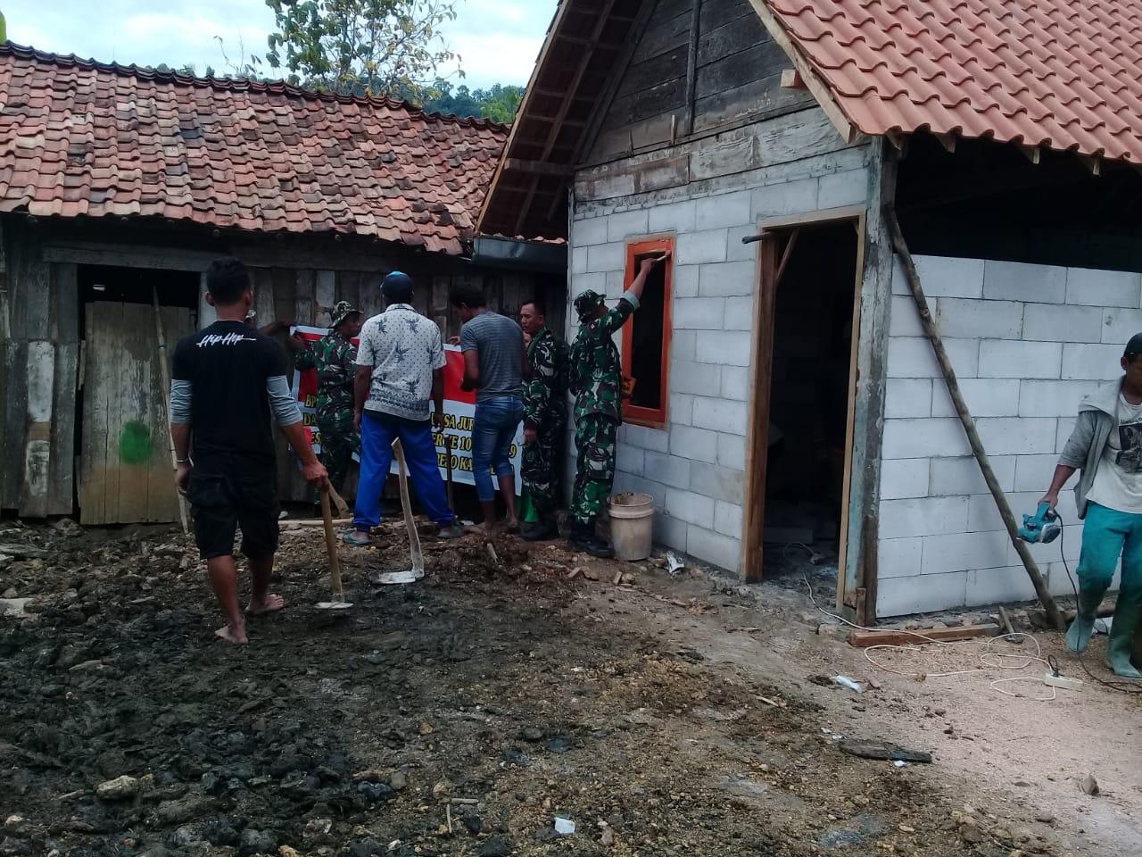 Satgas TMMD Dan Warga Semangat Renovasi RTLH