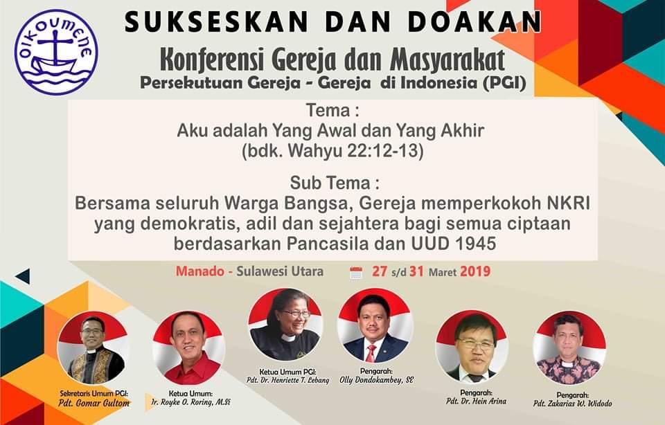 Besok KGM PGI, Gubernur OD Minta Warga Sulut jadi Tuan Rumah yang Baik
