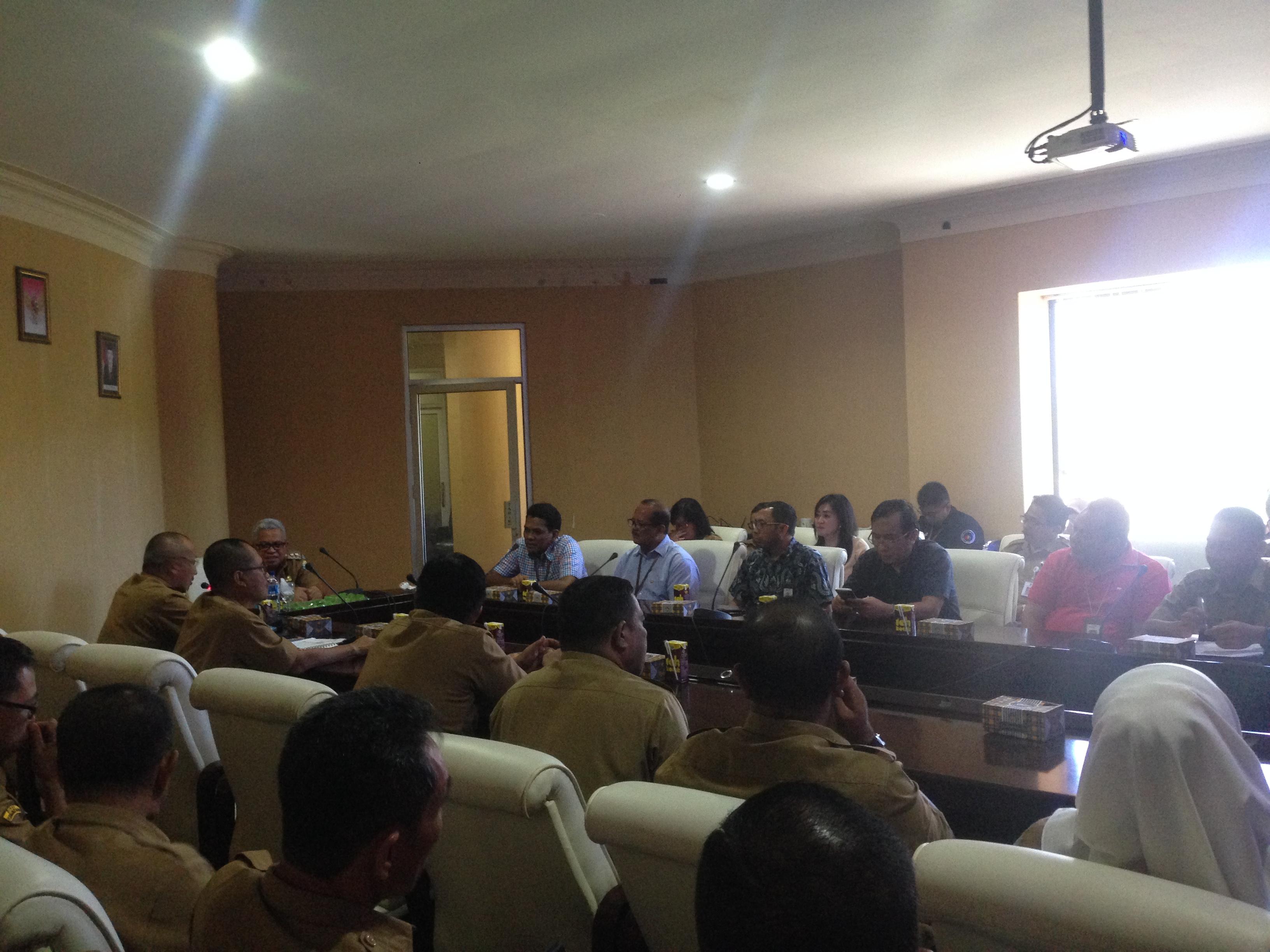 Wakil Bupati Bolmut Terima Audensi PT Telkom Indonesia Wilayah Sulut dan Malut