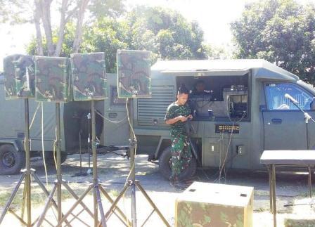 Dukung Upacara Penutupan TMMD, Denhub Korem 131/Santiago Stand By Di Lokasi