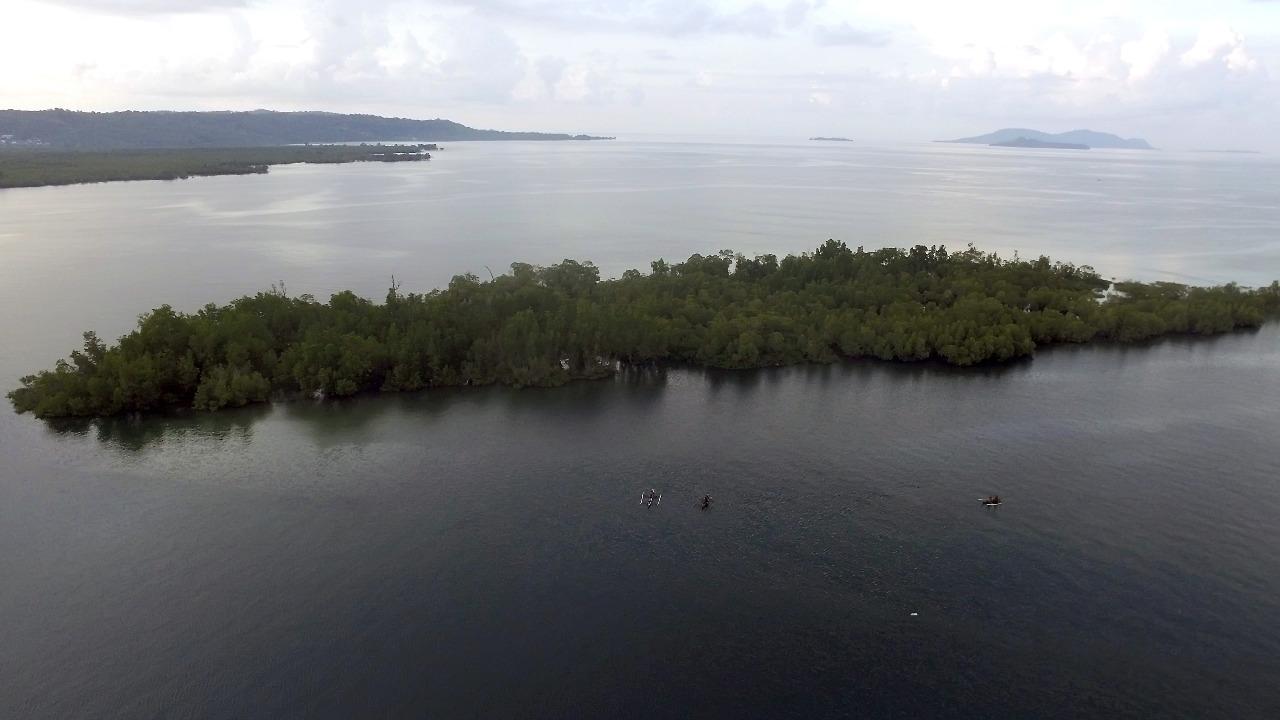 Pulau Napomanu Sarawet di Likupang; Lokasi Mancing dan Instagramable