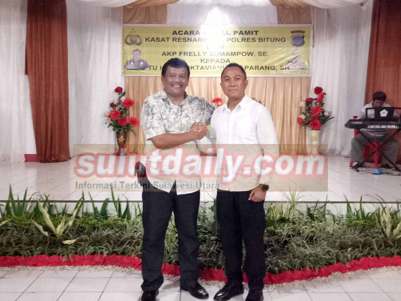 Iptu Hadi Paparang Gantikan Frelly Sumampouw Sebagai Kasat Narkoba Bitung