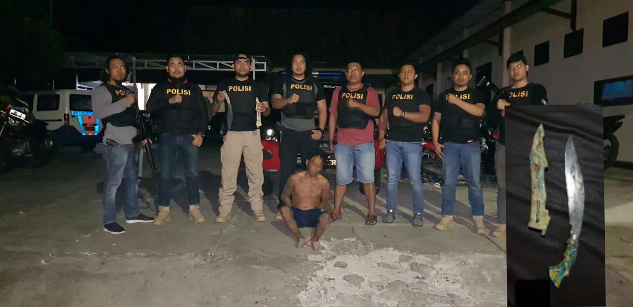Hadang Kendaraan Kapolsek KPS Menggunakan Sajam, Frangki Ditangkap Tim Tarsius
