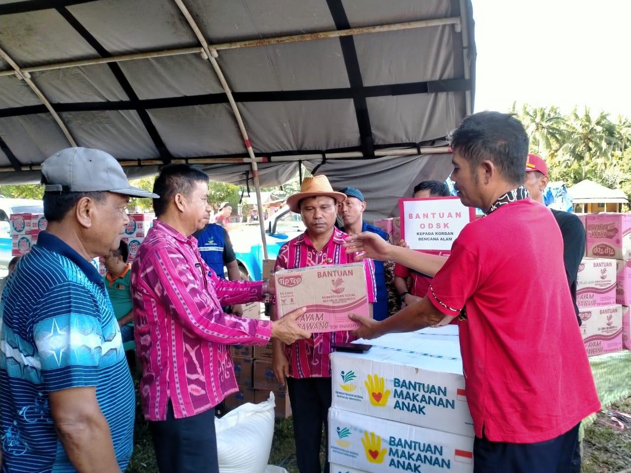 OD-SK Instruksikan Langsung Dinsos Sulut Bantu Korban Banjir Bandang di Bolmong dan Bolmut