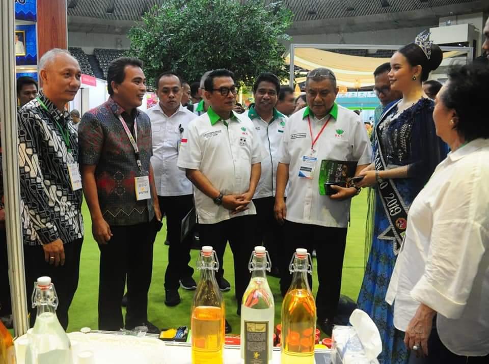 Pameran ASAFF 2020, Moedolko Kunjungi Stand Kota Manado
