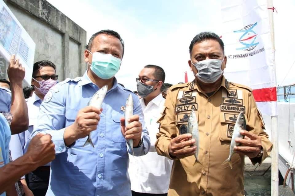 Bersama Menteri Edhy, Gubernur OD Gelorakan Kebangkitan Sektor Perikanan Sulut