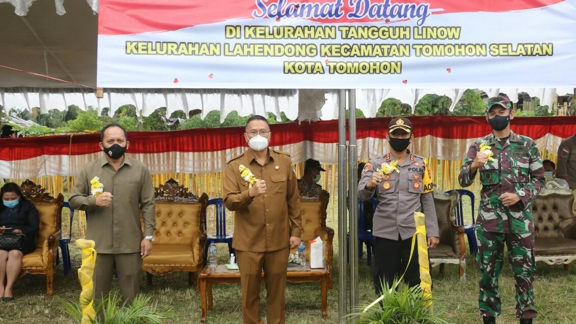 Djemmy Sundah Hadiri Launching Kampung Tangguh Linow