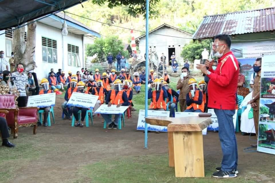 Gubernur OD Letakan Batu Pertama Pembangunan Sarhunta di KSPN Manado-Likupang