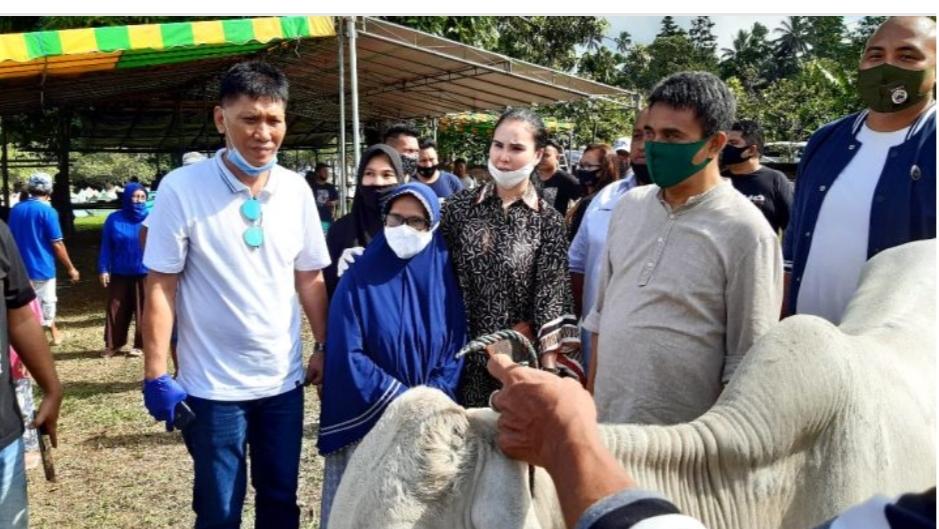 Momen Idul Adha, SGR-PDM Serahkan Bantuan 380 Juta dan 6 Ekor Sapi
