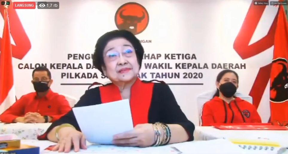 Puan Maharani Bacakan75 Paslon Pilkada Serentak 2020, Termasuk Caroll-Wenny