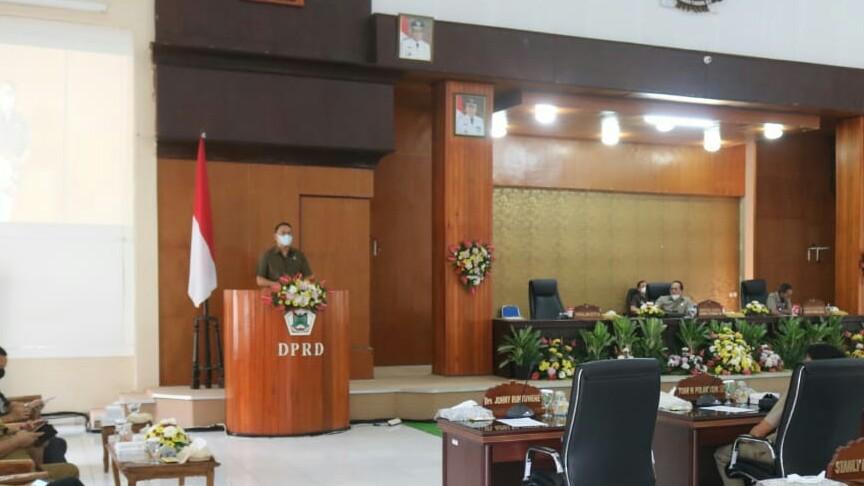 Walikota Hadiri Paripurna Peralihan Masa Sidang DPRD Tomohon
