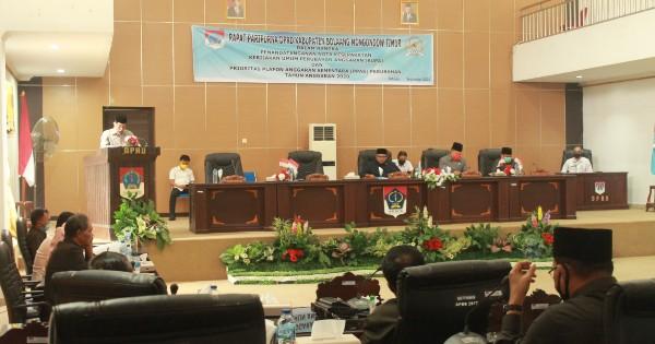 DPRD Gelar Paripurna Penandatanganan Nota Kesepakatan KUPA-PPAS Perubahan Tahun Anggaran 2020.