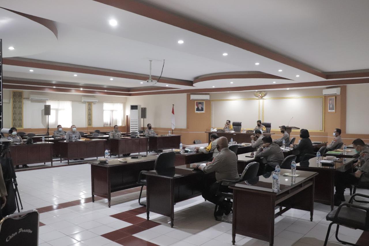 Kapolda Sulut Pimpin Rakor Pelaksanaan DIPA 6 Polres Baru