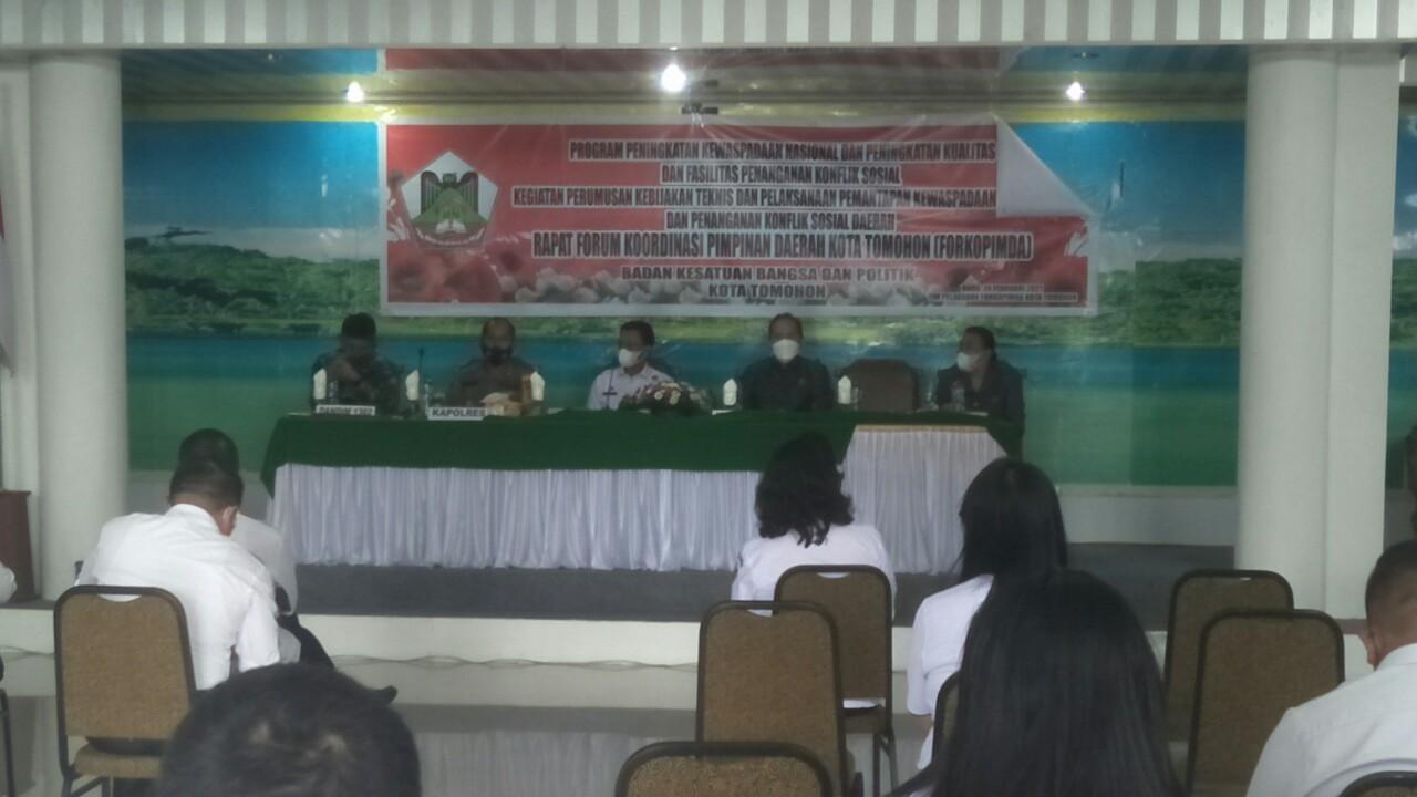 Rapat Forkopimda dan Perangkat Daerah, Persiapan Pelantikan Wali-Wawali Tomohon
