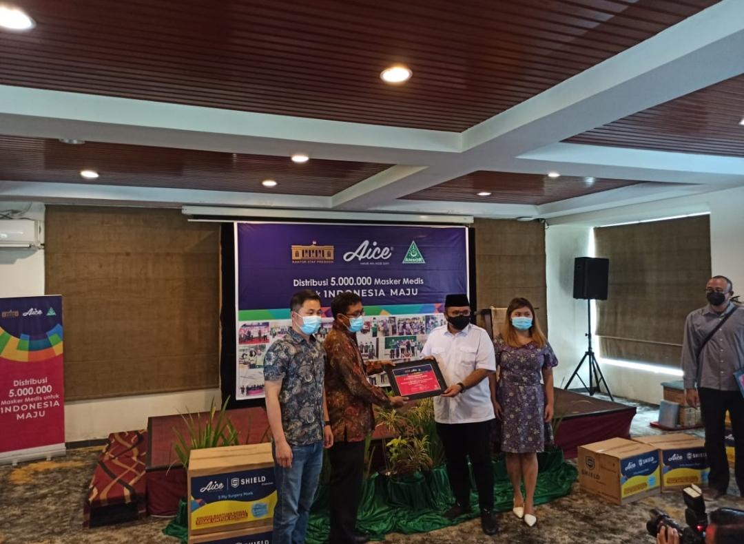 GP Ansor, KSP dan Aice Group Distribusi 5 Juta Masker Medis