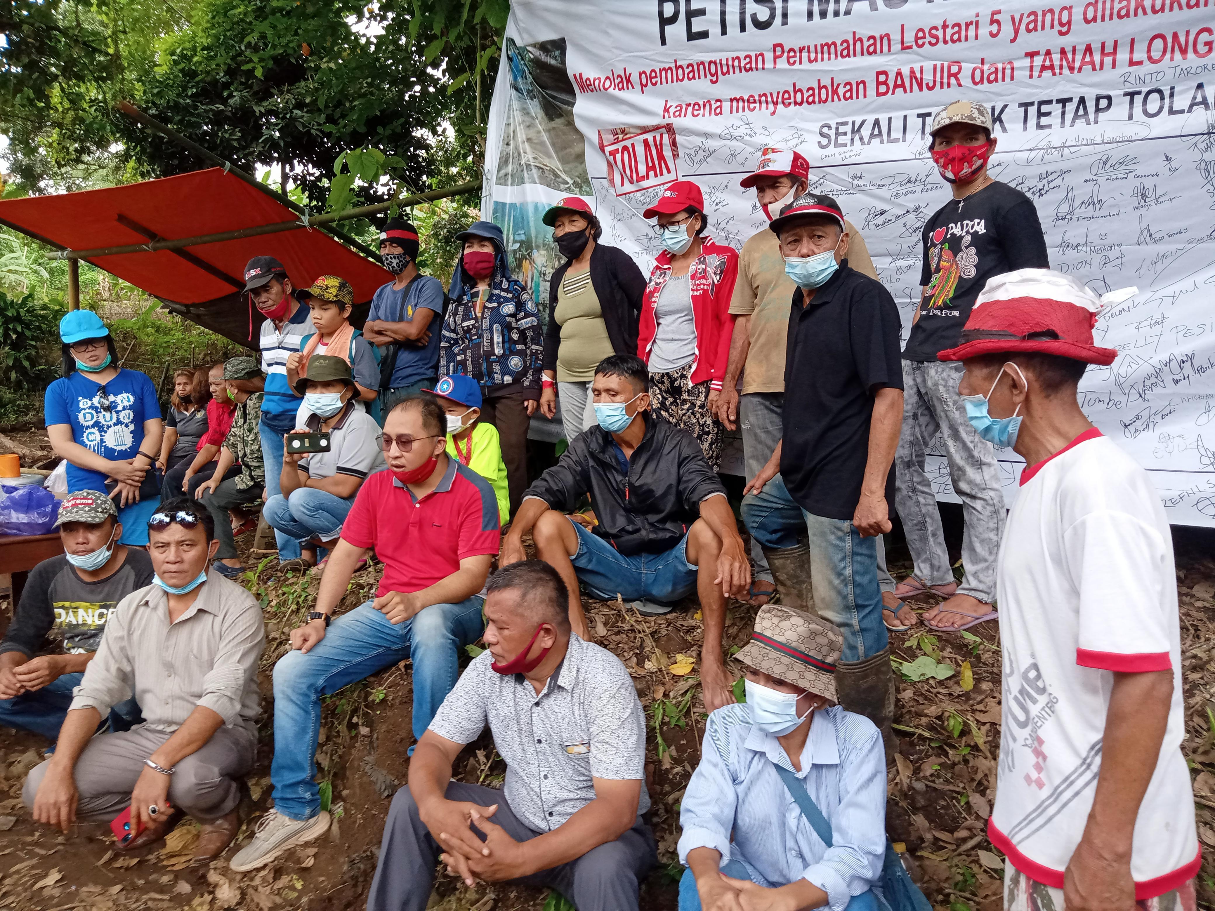 Walhi Sulut Bersama Aktivis Mahasiswa dan Masyarakat Tolak PT. BML di Desa Sea