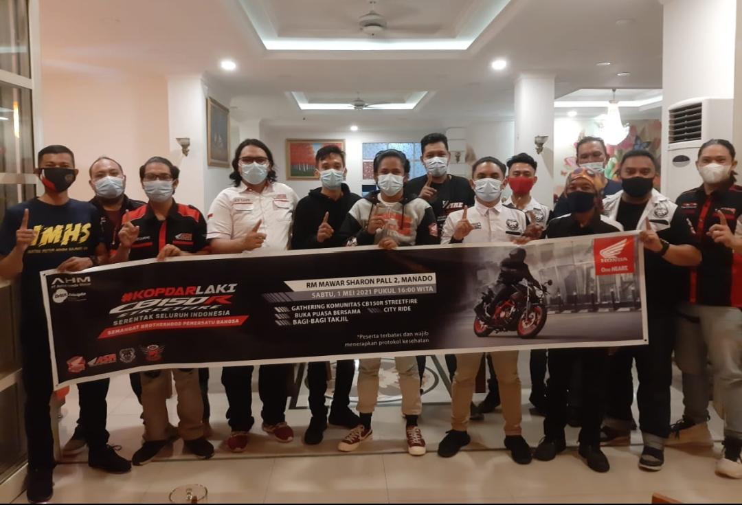 Kopdar Komunitas Motor Honda CB150R, Berbagi Takjil hingga Buka Puasa Bersama