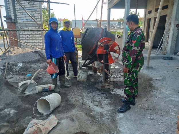 Pekerjaan Rehab RTLH Aladin Terus Digenjot Satgas TMMD Kodim Pati